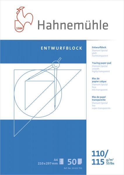 Hahnemühle | Technische Zeichenpapiere | Entwurfblock | 110/115 g/m²