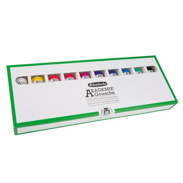 Schmincke Gouachefarbe | Akademie Gouache | Kartonset | 10 x 60 ml Tuben