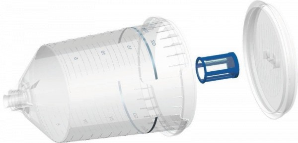 HSM | SPA - SYSTEM | SIEBEINSÄTZE | Maschenweite 105 µm (rot) | 60 Einsätze + Einführhilfe
