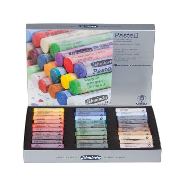 Schmincke Pastellfarbe | Pastell | Kartonset | Mehrzweck mit 30 Stifte