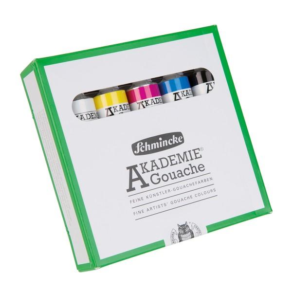 Schmincke Gouachefarbe | Akademie Gouache | Kartonset | 5 x 20 ml Tuben