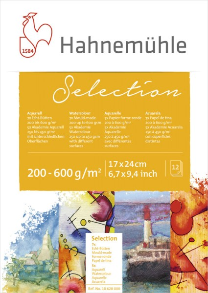 Hahnemühle | Echt-Bütten Aquarellpapier | Aquarell Selection 12