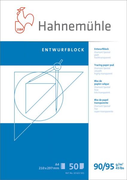 Hahnemühle | Technische Zeichenpapiere | Entwurfblock | 90/95 g/m²