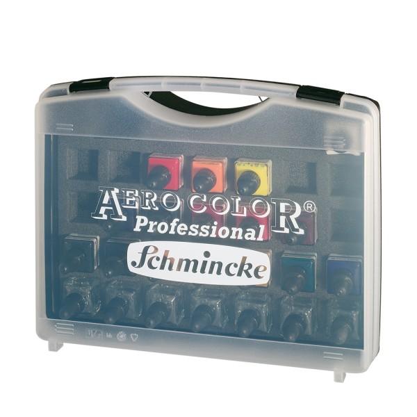 Schmincke Acrylfarbe | AERO COLOR Professional | Koffer | 16 x 28 ml Flaschen + 7 leere Flaschen