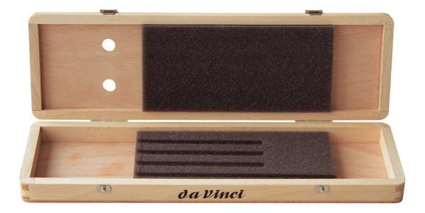 da Vinci Pinselschatulle naturlackiert | für kurzstielige Pinsel | Serie 4020