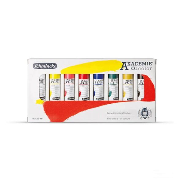 Schmincke Ölfarbe | Akademie Öl color | Kartonset | 8 x 20 ml Tuben