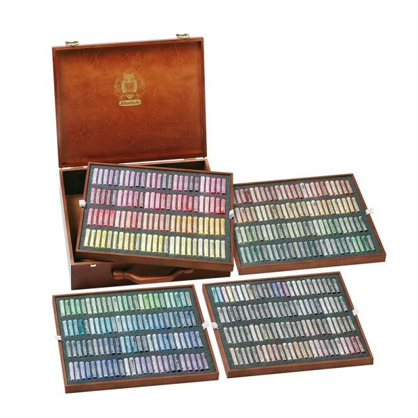 Schmincke Pastellfarbe | Pastell | Holzkasten | Vollsortiment mit 400 Stifte