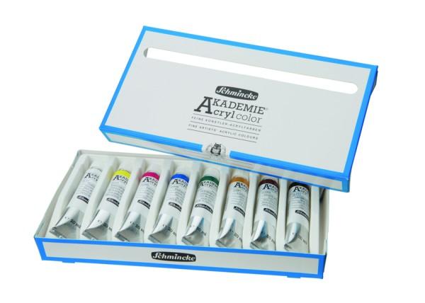 Schmincke Acrylfarbe | AKADEMIE Acryl color | Kartonset | 8 x 20 ml Tuben