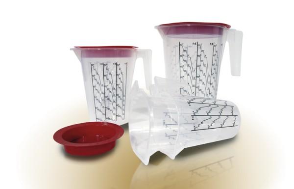 HSM | Mischbecher - Systeme | Kartonset | Modell Klein | 240 Einlagen+Außenbecher