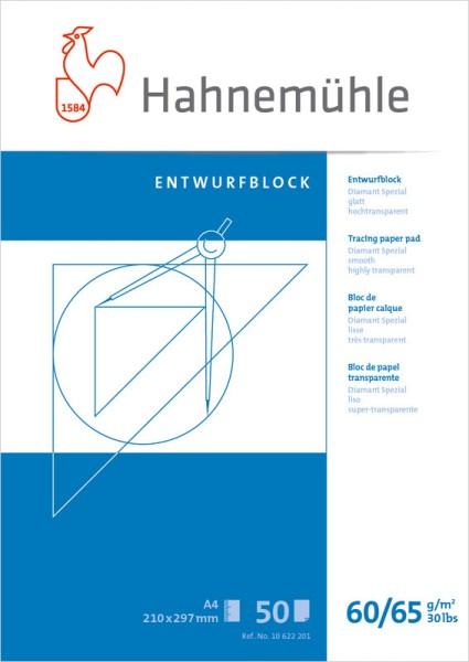 Hahnemühle | Technische Zeichenpapiere | Entwurfblock | 60/65 g/m²