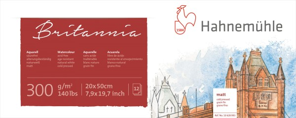 Hahnemühle | Akademie Aquarellkarton | Britannia Panorama | matt