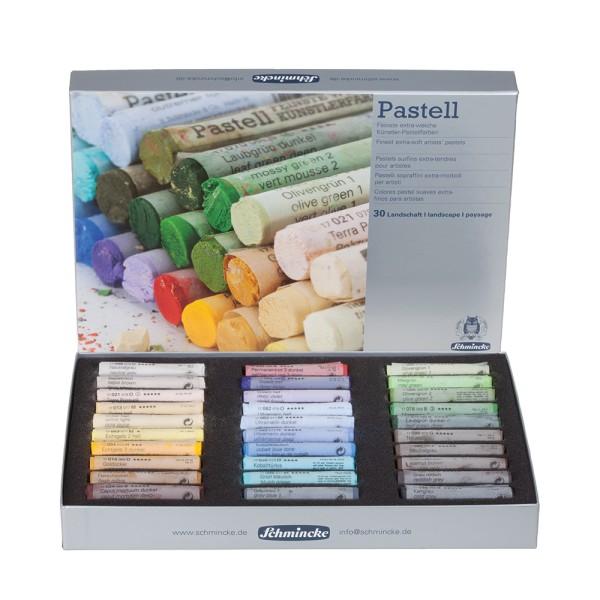 Schmincke Pastellfarbe | Pastell | Kartonset | Landschaft mit 30 Stifte