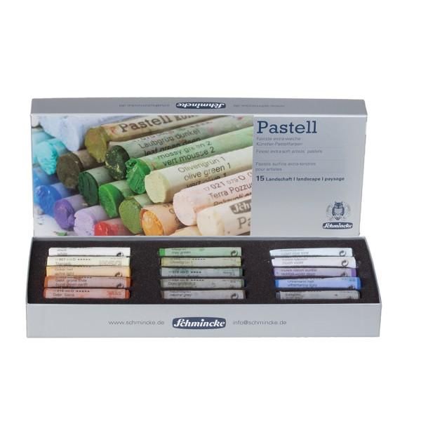 Schmincke Pastellfarbe | Pastell | Kartonset | Landschaft mit 15 Stiften