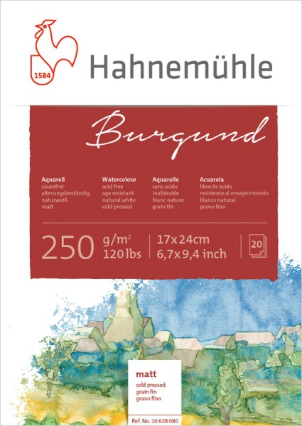 Hahnemühle | Akademie Aquarellkarton | Burgund | matt