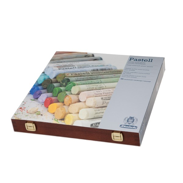 Schmincke Pastellfarbe | Pastell | Holzkasten | Landschaft mit 45 Stifte
