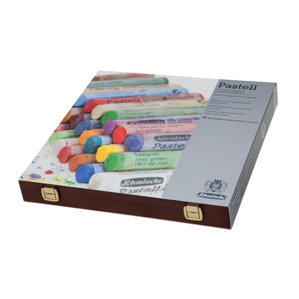 Schmincke Pastellfarbe | Pastell | Holzkasten | Mehrzweck mit 45 Stifte