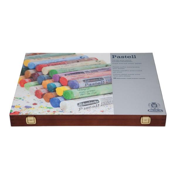 Schmincke Pastellfarbe | Pastell | Holzkasten | Mehrzweck mit 60 Stifte