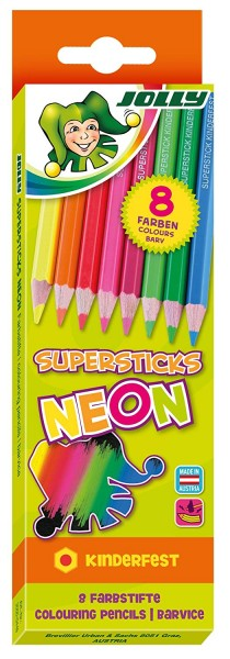 JOLLY Superstick NEON | 8er-Kartonetui