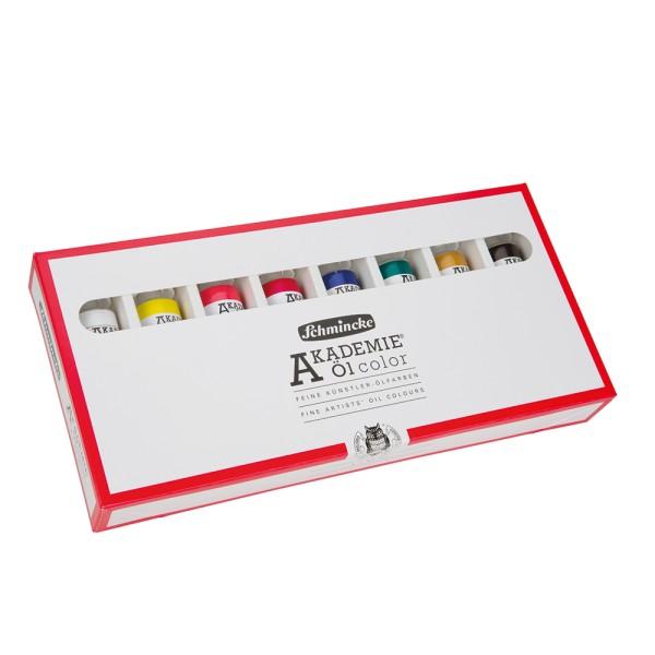 Schmincke Ölfarbe | Akademie Öl color | Kartonset | 8 x 60 ml Tuben