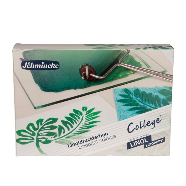 Schmincke Linoldruckfarbe | College Linol / Linoprint | Kartonset | 5 x 75 ml Tuben