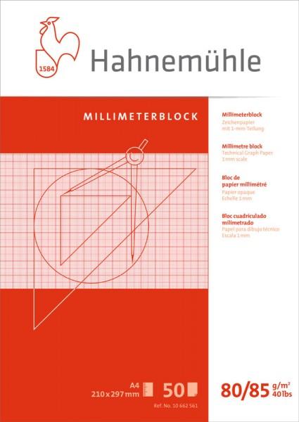 Hahnemühle | Technische Zeichenpapiere | Millimeterblock | 80/85 g/m²