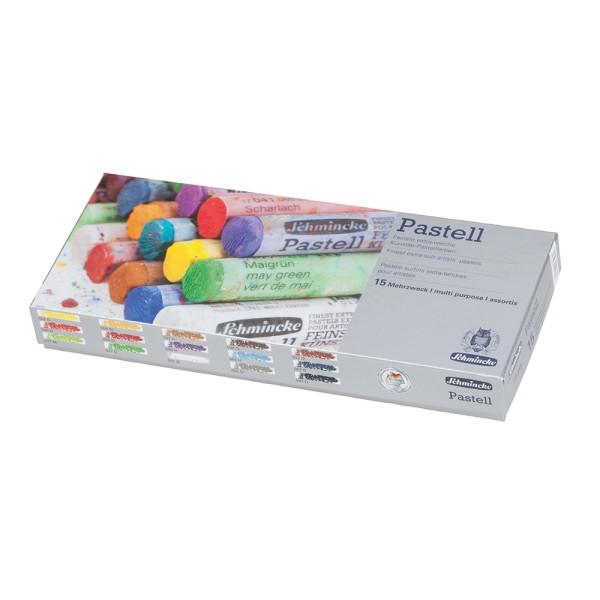 Schmincke Pastellfarbe | Pastell | Kartonset | Mehrzweck mit 15 Stifte