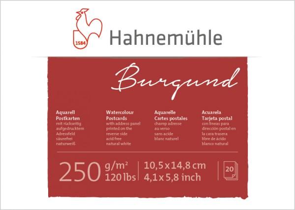 Hahnemühle | Akademie | Aquarell - Postkartenblock | Burgund