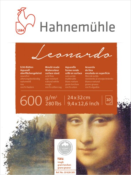 Hahnemühle | Echt-Bütten Aquarellkarton | Leonardo | rau